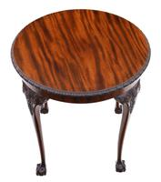 Carved Mahogany Circular Table Occasional Side Centre Window c.1910 (2 of 6)