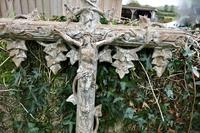 Large Architectural French Cast Iron Cross (2 of 4)