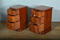 Antique Pair of Victorian Mahogany Bow Front Chests of Drawers (5 of 5)