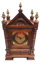 Superb Antique Solid Walnut 8-day Mantel Clock Ting Tang Striking Bracket Clock by W&H (9 of 12)