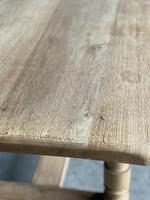 French Bleached Oak Farmhouse Kitchen Table (7 of 25)