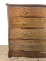 Edwardian Inlaid Mahogany Serpentine Chest of Drawers by Waring (M-1489) (6 of 16)