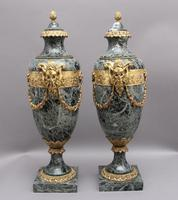 Pair of 19th Century French Marble & Cassoulet Urns (3 of 13)