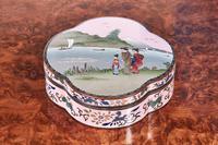 Antique Shaped Japanese Cloisonne Box