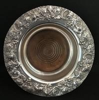 Good Georgian Silver Plated Bottle Coaster (4 of 4)