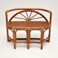Vintage 1970's Bamboo & Rattan Games Table & Chairs (6 of 12)