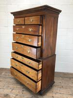 Early 19th Century Oak Secretaire Tallboy Chest on Chest (3 of 17)