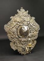 Large Early 18th Century Silvered Repoussé Wall Sconce (3 of 5)