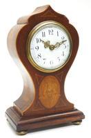 Super Art Nouveau Mantle Clock Tulip Floral Inlay 8 Day Mantle Clock (15 of 15)