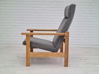 Danish Design by H.J.Wegner, GE 163a, Armchair, Oak, 70s, Furniture Wool, Renovated (2 of 9)