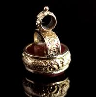 Antique Victorian 9ct Gold Carnelian Seal Fob (7 of 13)