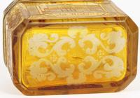 Bohemian Antique Engraved Metal Mounted Overlay Yellow Glass Sugar Casket 19th Century (7 of 19)