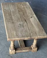 French Bleached Oak Coffee Table (8 of 11)