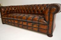 Antique Deep Buttoned Leather Chesterfield Sofa (7 of 9)