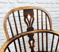 Pair of Named Windsor Lowback Armchairs, F Walker of Rockley (4 of 8)