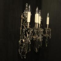 French Pair of Silver Gilded Wall Sconces (10 of 10)