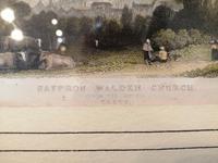 19th Century Hand Coloured Engraving of Saffron Walden Church (3 of 6)