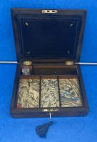 Victorian Burr Walnut Writing Box c.1870 (9 of 14)