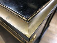 Victorian Ebonised Inlaid Side Cabinet with Brass Mounts (11 of 15)
