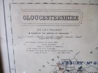 19th Century Fox-hunting Map of Gloucestershire by J & C Walker (3 of 4)