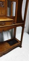 Large Art Nouveau Oak Hallstand (6 of 6)