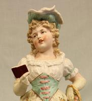 Antique Large Bisque Figurine of Young Girl (7 of 12)