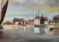 Contemporary, British School - Sailing on the Estuary - Seascape Oil Painting (7 of 11)