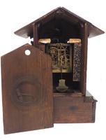 Rare Cuckoo Mantel Clock – German Black Forest Carved Bracket Clock (6 of 12)