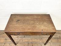 Antique Georgian Oak Side Table with Drawer (4 of 10)