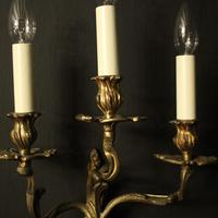 French Pair Of Antique Bronze Wall Sconces (6 of 10)