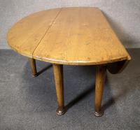 Solid Oak Gateleg Coffee Table / Drop Leaf Coffee Table (4 of 7)