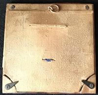 Antique Leather & Brass Photo Frame (2 of 3)