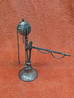 Antique Middle Eastern Hookah Silver 19th Century