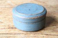 Scandinavian / Swedish 'Folk Art' original blue painted wooden storage Gustavian period, 1802 (4 of 15)