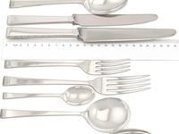Sterling Silver Canteen of Cutlery for 8 Persons - Art Deco Style - Vintage 1956 (5 of 12)
