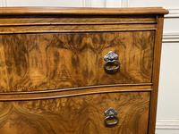 Re Finished Burr Walnut Serpentine Chest of Drawers (5 of 10)
