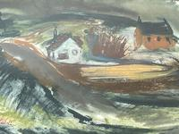 Scottish Mixed Media Painting Cottages in Ayrshire Signed Robert Sinclair Thomson 1915-1983 ARSA, RSW (22 of 27)
