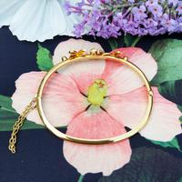 Vintage 14ct Yellow Gold Crescent Moon Pearl Bangle (5 of 8)