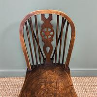 Six Country House Kitchen Elm Antique Windsor Chairs (6 of 6)
