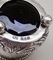 Small Victorian Silver Mustard Pot by William Devenport, Birmingham 1895 (6 of 8)