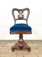 Antique Regency Rosewood Musician's Chair