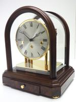 Wow! Franz Hermle & Sohne Musical Bell Chiming Mahogany & Glass Mantel Clock (2 of 13)