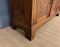 Victorian Carved Oak 3 Door Bookcase (16 of 23)
