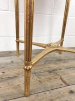 Gold Gilt Table with Circular Onyx Top (10 of 11)