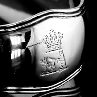 Antique Solid Silver Georgian Asparagus Tongs, Duke Sutherland Clan Crest - William Eley & William Fearn in London, 1820 (6 of 18)