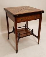 Victorian Rosewood Envelope Card Table (6 of 6)