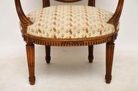 Antique French Carved  Walnut Salon Armchair (5 of 13)
