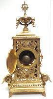 Impressive Antique Candelabra 8-day Clock Set French Striking Rococo Ormolu Bronze Mantel Clock (14 of 15)