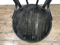 Set of Four Ebonised Bentwood Café Chairs (2 of 14)
