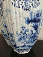 Imposing 19th Century Dutch Delft Blue & White Vase & Cover (8 of 15)
